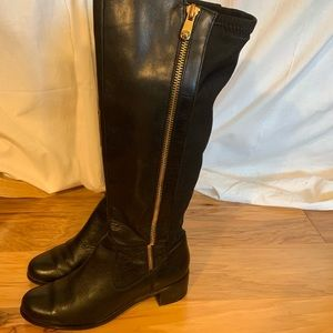 Tahari Kyle leather and stretch riding boot. 6.5